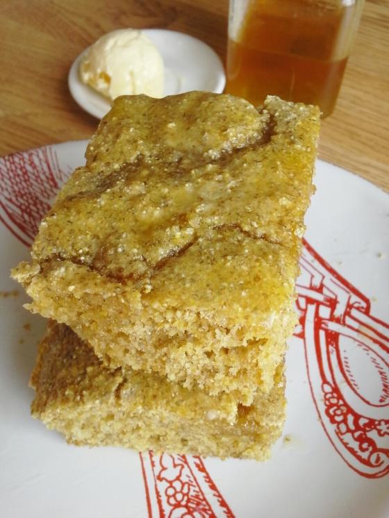 Colonial cornbread--yum!