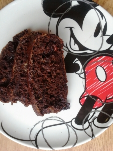 even Mickey is sweet on this banana bread
