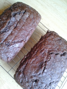 doubling the pleasure of sourdough chocolate banana bread