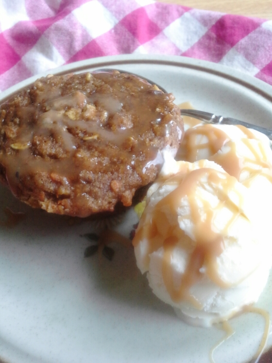 super muffins, DIY ice cream, and salted caramel sauce--it doesn't get any better than this