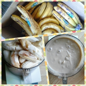 "banana ""ice cream"" in the making"