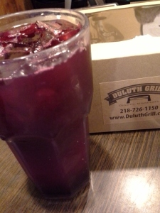 beet lemonade--surprisingly tasty!