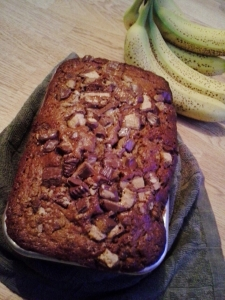 candy-topped banana bread