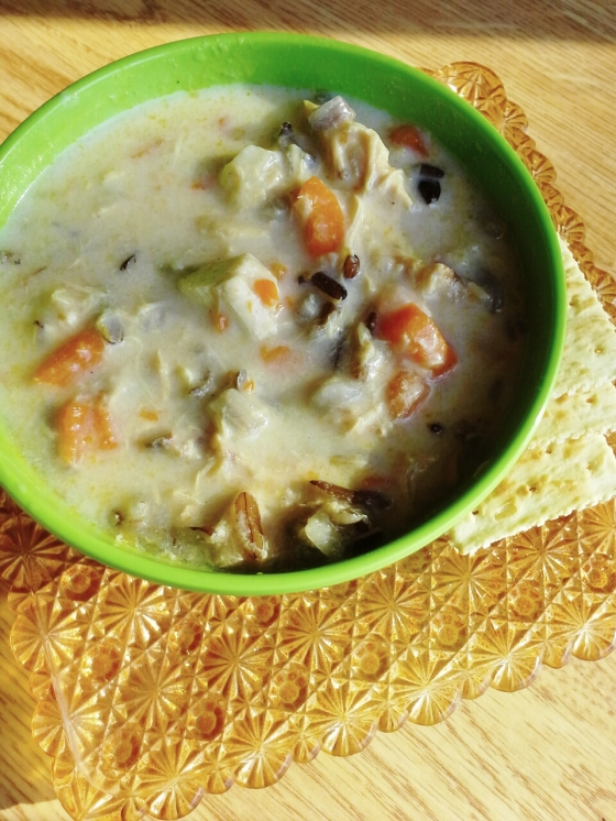 DIY cream chicken wild rice soup