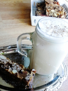 DIY granola bars and eggnog. Cheers!