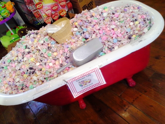 brilliantly clever way to sell salt water taffy