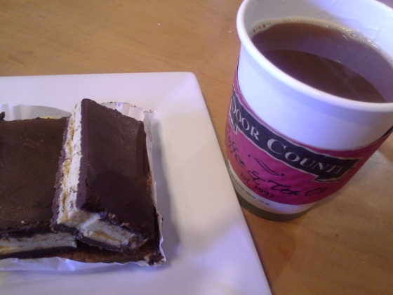 Door County Coffee & Tea Company: Americano and sea salt caramel decadence