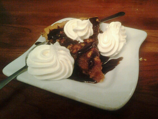 Kentucky Derby Pie doesn't contain any bourbon, but it sure is good.
