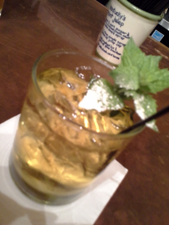 Rosemary Mint Julep (named for the bartender, Rosemary) @ Chapeze House
