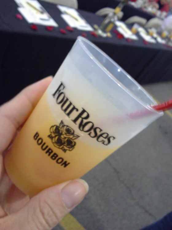 Bourbon Sunrise, enjoyed at a brunch hosted by Four Rose Distillery