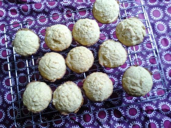 bourbon corn muffins--golden!
