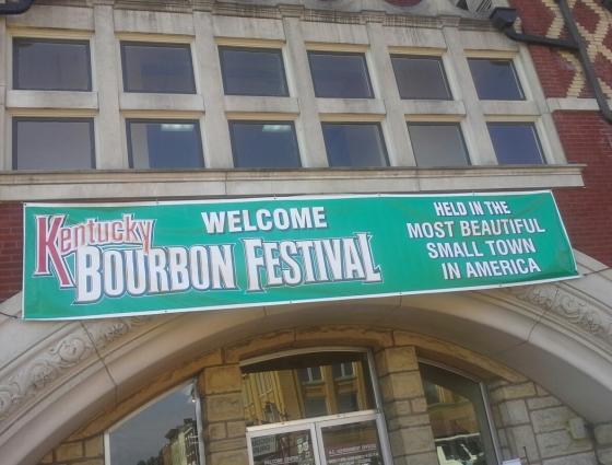 bourbon festival sign