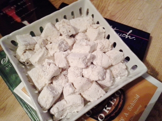 Someone didn't wait long enough for the marshmallows to set, though the cragginess has its charms.